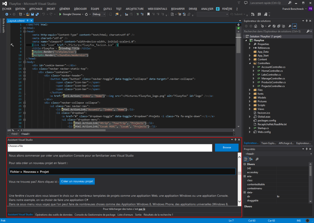 Assistant Visual Studio