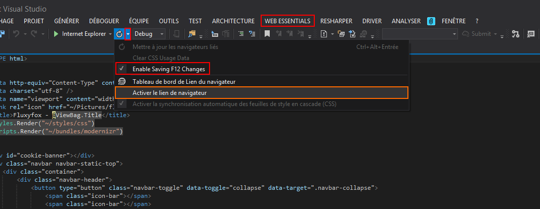 Visual Studio Html Design View Missing
