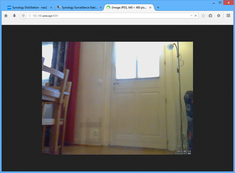 Visualisation du flux de la webcam