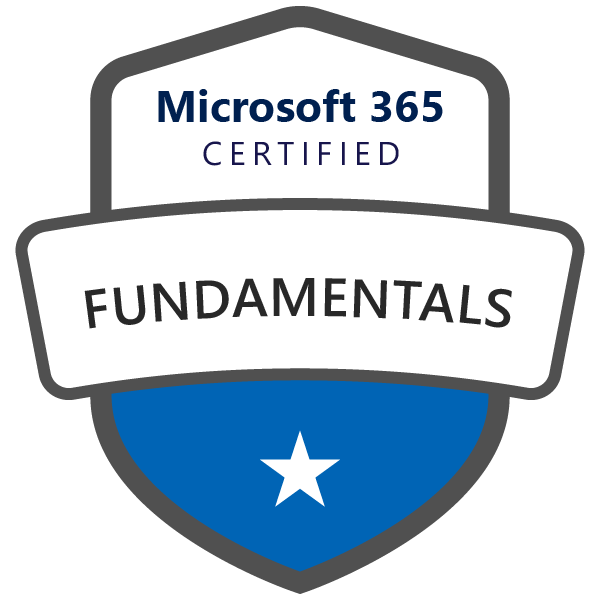 Certification MS-900 : Microsoft 365 Fundamentals